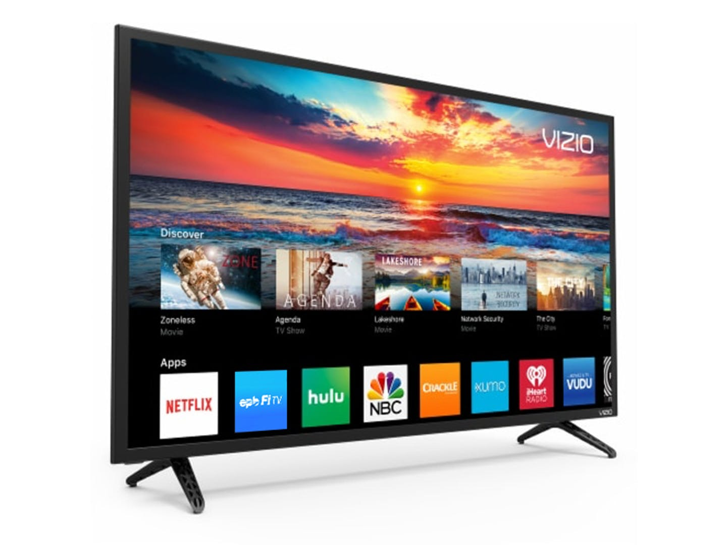 Image of a smart TV with the EPB Fi TV app displayed.