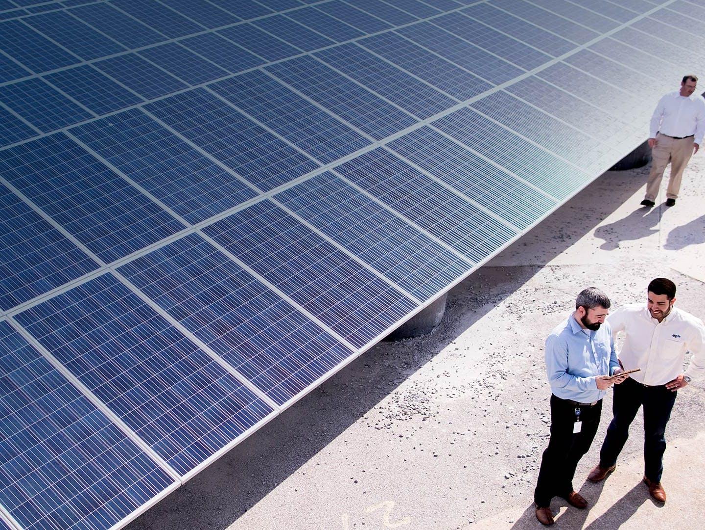 EPB employees touring the EPB solar field, Solar Share.